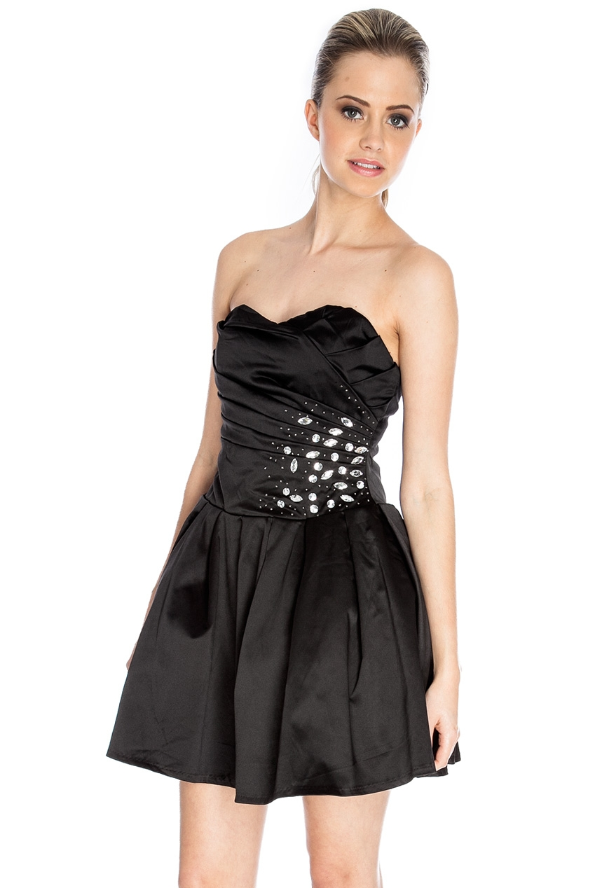 Rochie petrecere corset cu diamante