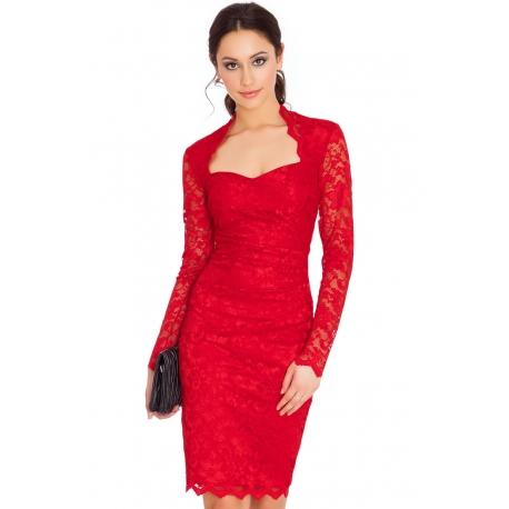 Rochie dantela Lady in red
