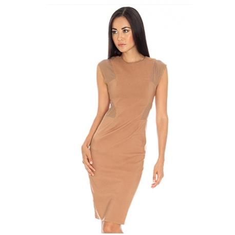 Rochie cu accente de piele