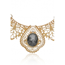 Colier statement Cameo lady