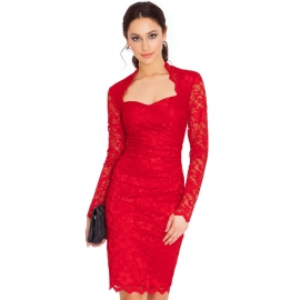 Rochie dantela Lady in red